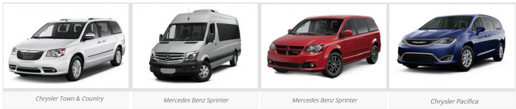 Photo of a variety of vans.